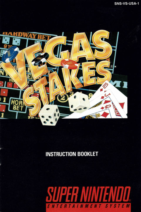 Vegas Stakes (SNES Manual)