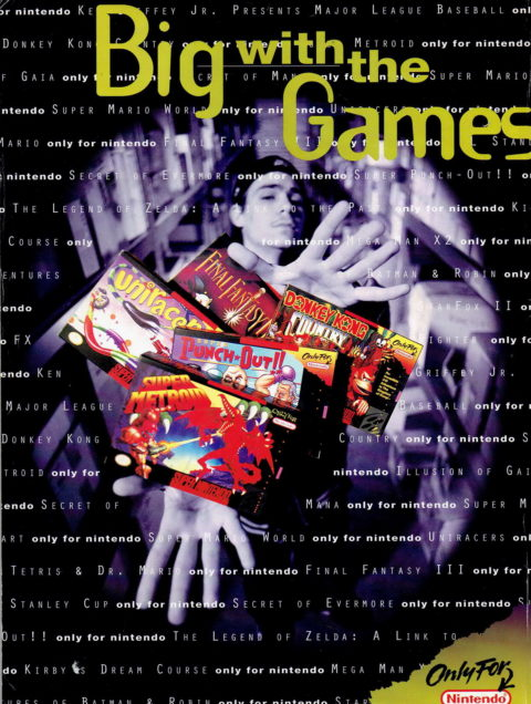 Nintendo Power – Big with the Games Ad