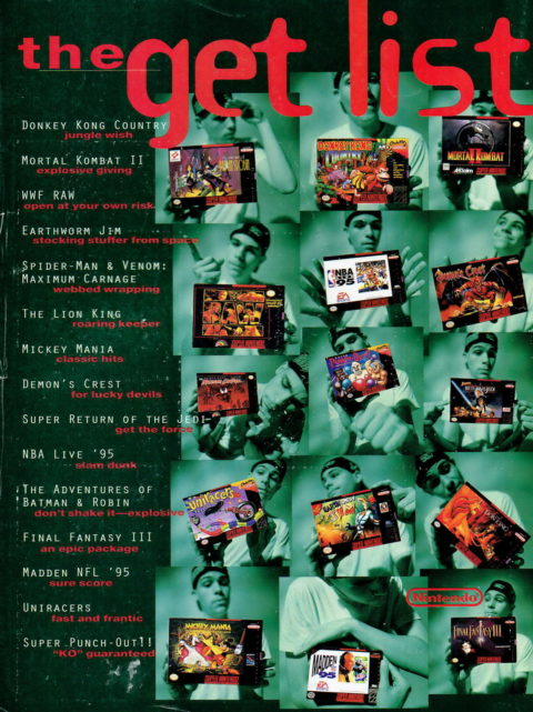 Nintendo Power – The Get List Ad