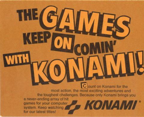 Konami – Box Insert