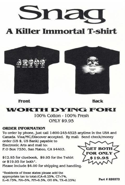 The Immortal – TShirt Ad