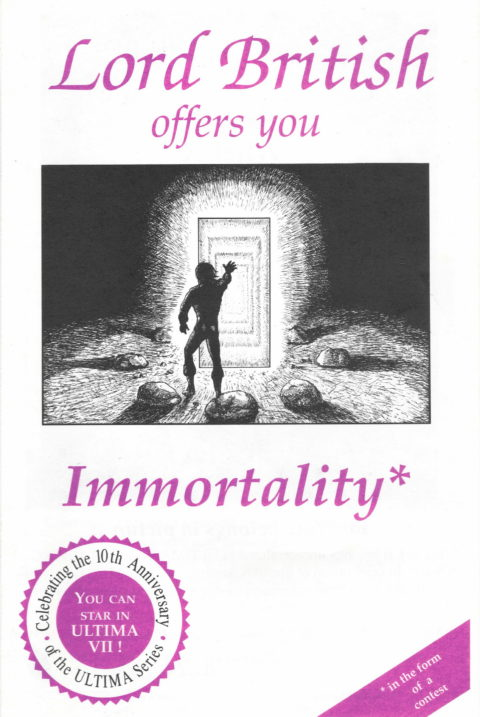 Ultima – Lord British Immortality – Cover
