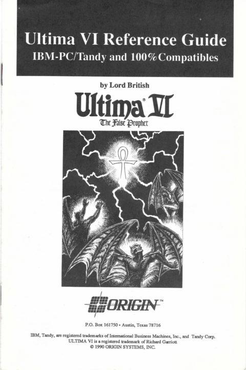Ultima VI – Reference Card