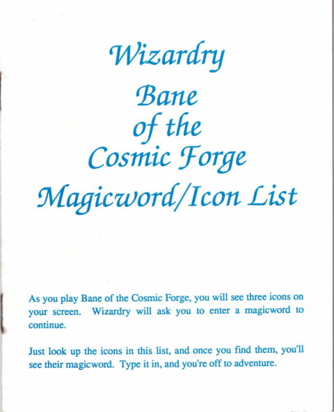 Wizardry – Bane of the Cosmic Forge – Magicword – Icon List